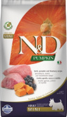 Фармина N&D Pumpkin Adult Mini Lamb&Blueberry 7кг