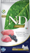 Фармина N&D Dog Adult Mini Lamb&Blueberry 2,5кг (прайм)